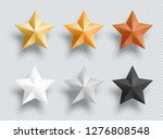 3d Metal Stars Gold Silver...