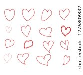 heart icons  concept of love... | Shutterstock .eps vector #1276809832