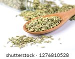 close up  fennel seed on white... | Shutterstock . vector #1276810528
