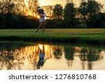 healthy sport. asian sporty... | Shutterstock . vector #1276810768