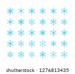 big set of snowflakes winter... | Shutterstock .eps vector #1276813435