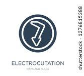 electrocutation danger icon... | Shutterstock .eps vector #1276815388
