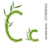 bamboo letter c with young... | Shutterstock .eps vector #1276820122