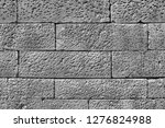 stone wall background in black...   Shutterstock . vector #1276824988