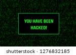 stream binary matrix code on... | Shutterstock .eps vector #1276832185