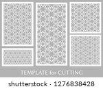 decorative panels set for laser ... | Shutterstock .eps vector #1276838428
