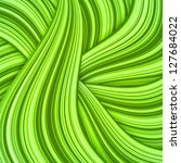 green abstract vector hair or... | Shutterstock .eps vector #127684022