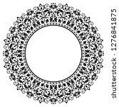 decorative frame elegant vector ... | Shutterstock .eps vector #1276841875