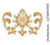 damask graphic ornament. floral ... | Shutterstock .eps vector #1276841905