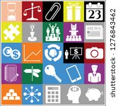 set of 25 business icons ... | Shutterstock .eps vector #1276843462