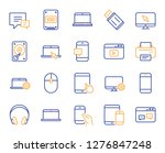 mobile device line icons.... | Shutterstock .eps vector #1276847248