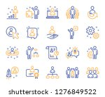 management line icons. set of... | Shutterstock .eps vector #1276849522