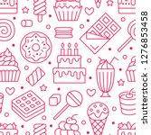 sweet food seamless pattern... | Shutterstock .eps vector #1276853458