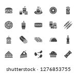 junk food flat glyph icons set. ... | Shutterstock .eps vector #1276853755