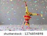 funny kid clown. happy child... | Shutterstock . vector #1276854898