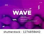 3d distorted wave lines.... | Shutterstock .eps vector #1276858642