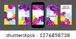 stories template design. tropic ... | Shutterstock .eps vector #1276858738