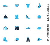 garment icons colored set with... | Shutterstock .eps vector #1276860688