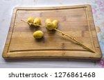 fresh ripe organic date fruits... | Shutterstock . vector #1276861468