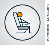 sitting man icon colored line... | Shutterstock .eps vector #1276862848