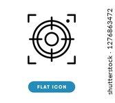 center focus vector icon | Shutterstock .eps vector #1276863472