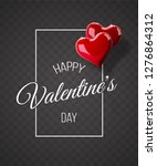 valentine's day abstract...   Shutterstock .eps vector #1276864312