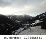 a beautiful view of a winter... | Shutterstock . vector #1276866562