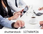 business meeting. group of... | Shutterstock . vector #127686926