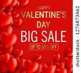 happy valentine's day sale...   Shutterstock .eps vector #1276873462