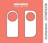 vector set of unique door... | Shutterstock .eps vector #1276876228