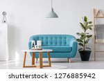 white wooden coffee table next... | Shutterstock . vector #1276885942
