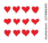 love heart sign valentine set... | Shutterstock .eps vector #1276886305