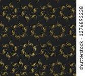 3d gold seamless pattern on... | Shutterstock . vector #1276893238