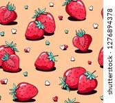 valentine's day pattern cute... | Shutterstock .eps vector #1276894378