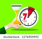 7 seven minutes clock vector...   Shutterstock .eps vector #1276904992