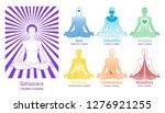 chakras   energy centers. seven ... | Shutterstock .eps vector #1276921255
