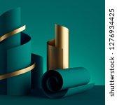 3d Render  Paper Ribbon Rolls ...