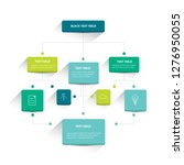 infographics flowchart. colored ... | Shutterstock .eps vector #1276950055