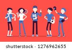 young athletes  professional... | Shutterstock .eps vector #1276962655