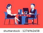 management meeting for giving... | Shutterstock .eps vector #1276962658