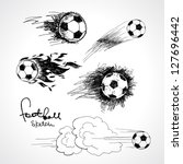 football sketch | Shutterstock .eps vector #127696442