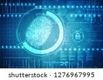 fingerprint scanning technology ... | Shutterstock . vector #1276967995