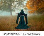 young priestess holds a secret... | Shutterstock . vector #1276968622