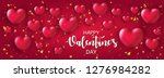 beautiful happy valentine's day ... | Shutterstock .eps vector #1276984282