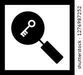 vector keyword search icon  | Shutterstock .eps vector #1276987252