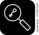 vector keyword search icon  | Shutterstock .eps vector #1276991002