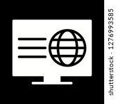 vector webpage icon  | Shutterstock .eps vector #1276993585