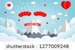 paper art style vector... | Shutterstock .eps vector #1277009248