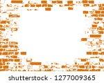 vector of grunge brick wall... | Shutterstock .eps vector #1277009365