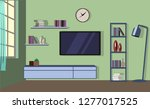 room interior design modern... | Shutterstock .eps vector #1277017525